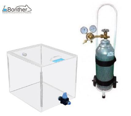 Câmara de CO2 - Conjunto Carrinho / Cilindro 4,5kg / Manômetro